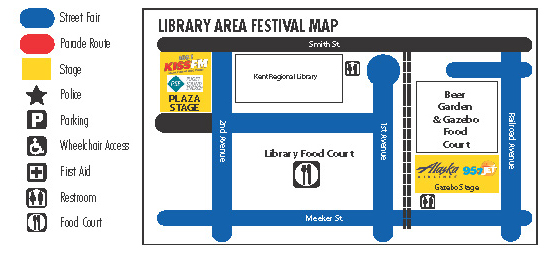 Library Area Festival map